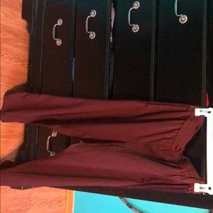 Maroon dress pants